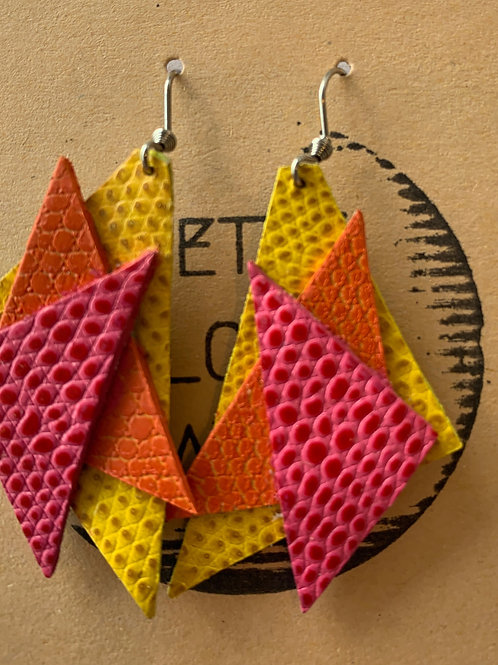 Angles - Leather Earrings