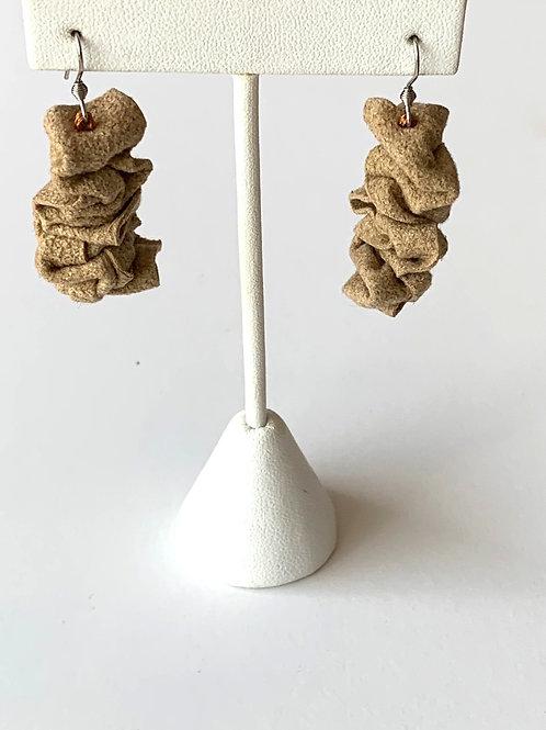Muffin Tan Felt Earrings
