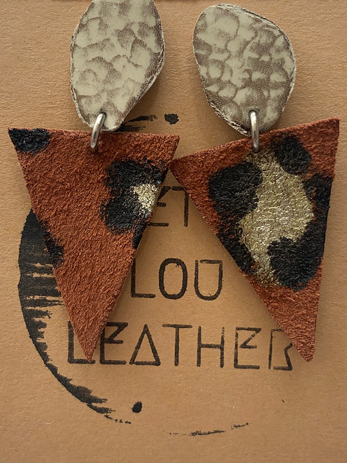 Animal R Us & Silver Bling Leather Earrings