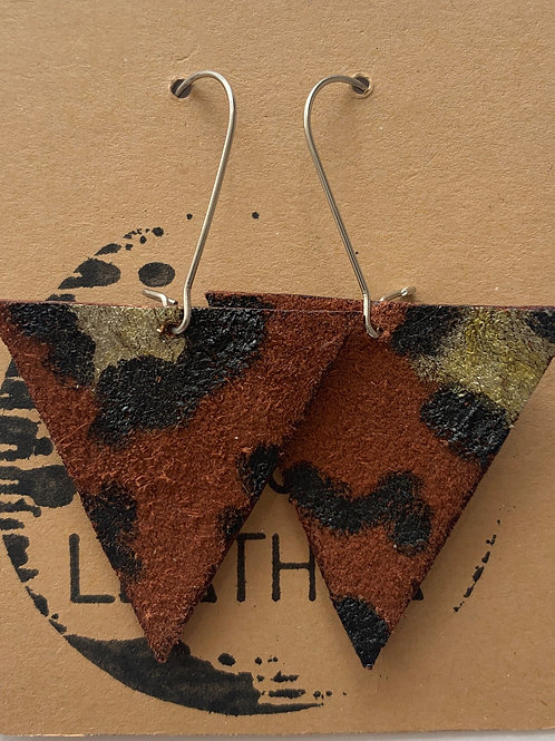Animal View - Leather Earrings