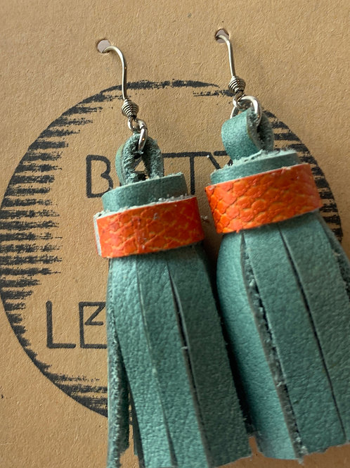 Where are the Dolphins - Leather Earrings