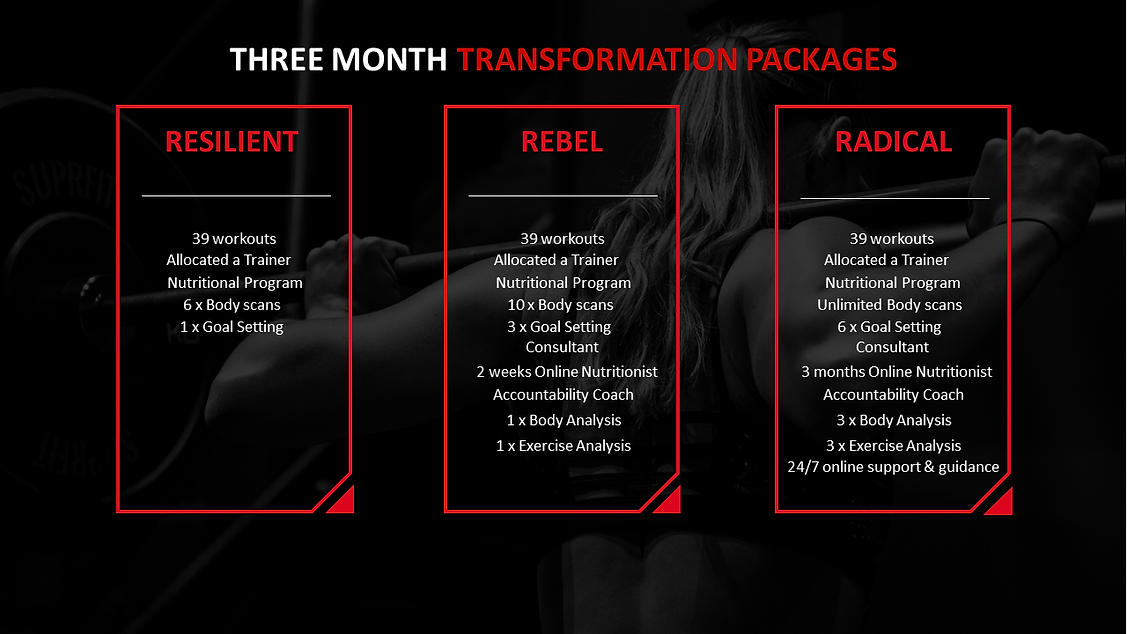 THREE MONTH TRANSFORMATION PACKAGES no p