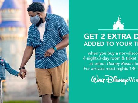 Get 2 Extra Days at Disney