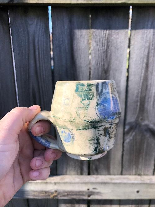 Blue circle mug