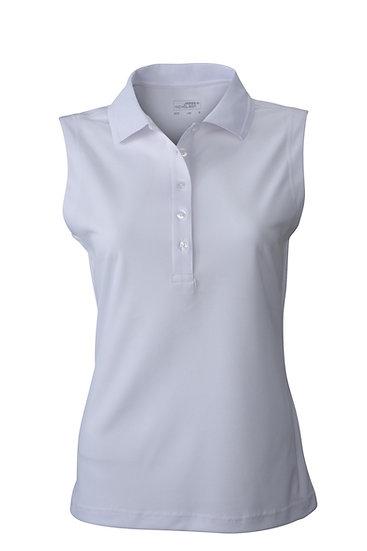Ladies fast dry sleeveless polo