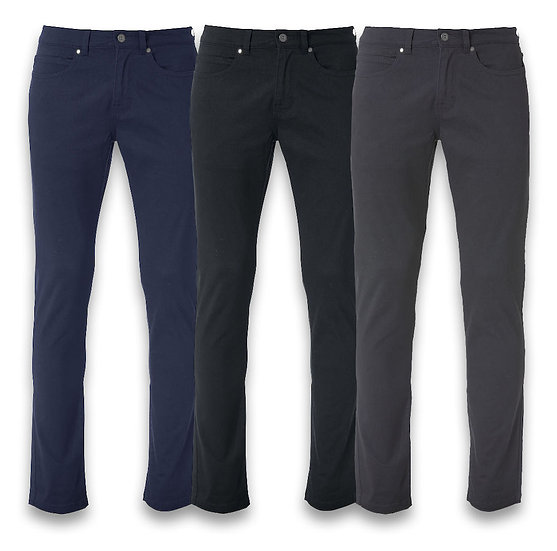 MENS 5 POCKET STRETCH PANTS CLIQUE