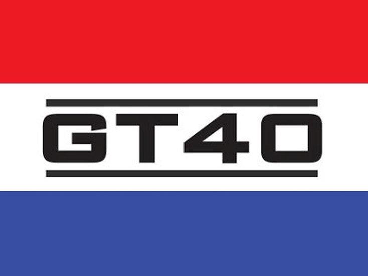 GT40 LOGO DOOR MAT