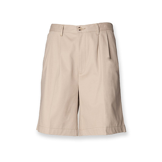 MEN'S TEFLON COATED PLEATED FRONTED HENBURY CHINO SHORTS