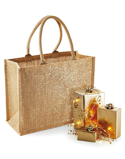 Shimmer Jute Shopping Bag