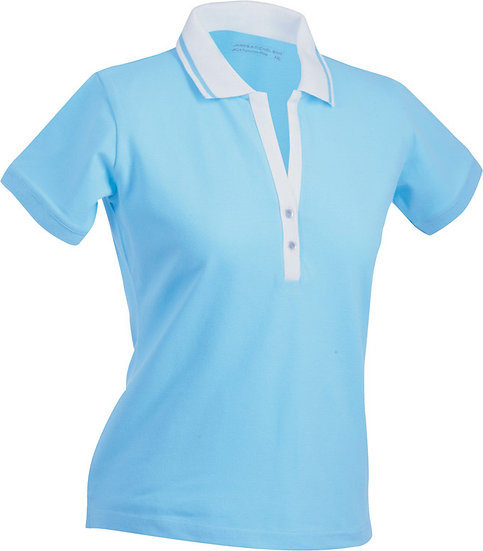 Ladies stretch short sleeved Polo