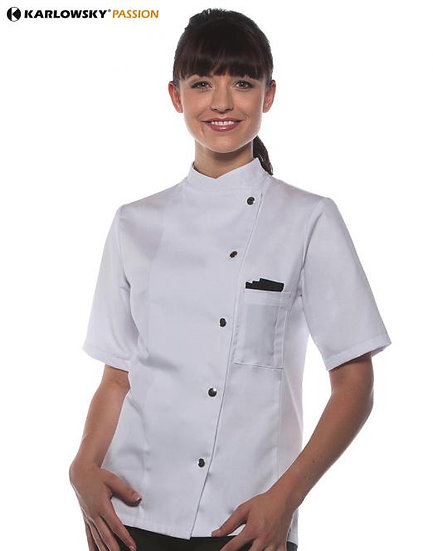 CHEF JACKET SHORT SLEEVE LADIES