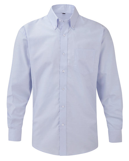 Mens Russell Easy Care Oxford Shirt