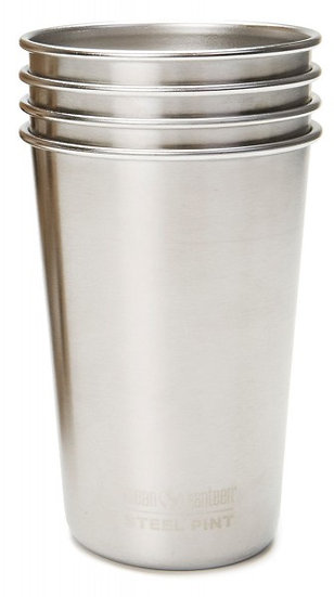 Klean Kanteen Steel Pint 16oz (473ml) - 4 Pack