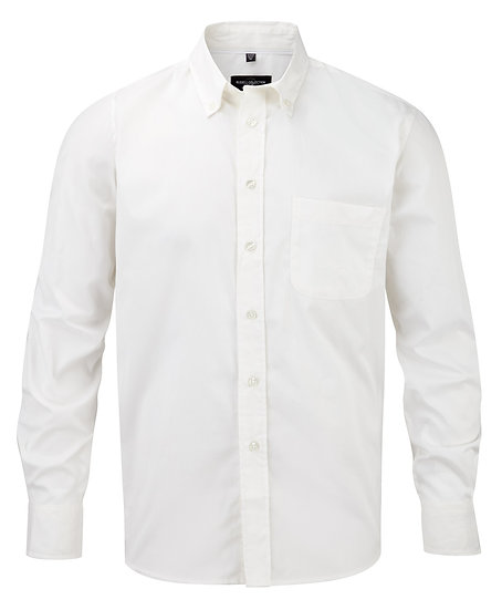 Mens Russell Long Sleeve Classic Twill Shirt