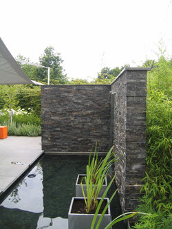 muur in stonepannels