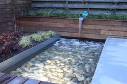 Moderne waterpartij