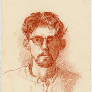 Self Portrait Conte