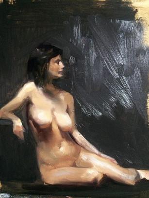 Alla Prima figure study 25x30 #art #painting #alla Prima #florenceacademyofart #nude