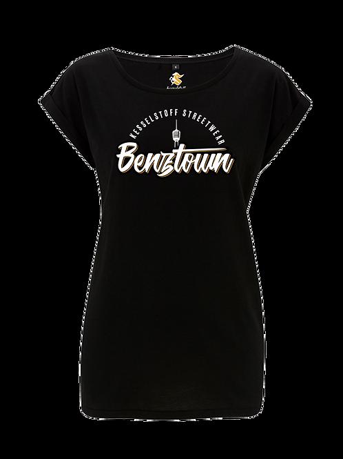 """Shirt - """"Benztown"""" - Schwarz - Damen"""