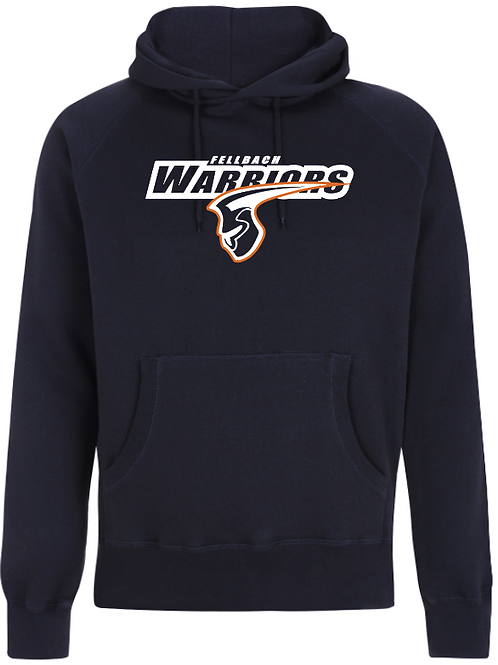 Fellbach Warriors - Hoodie - Navy - Logo Groß