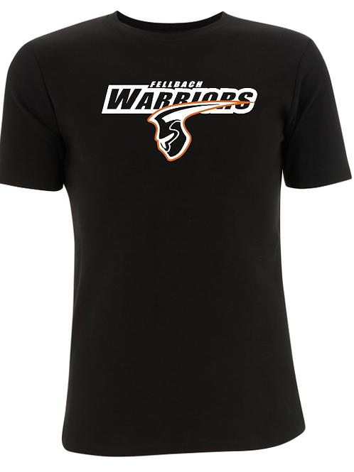 Fellbach Warriors - Shirt - Schwarz - Logo Groß