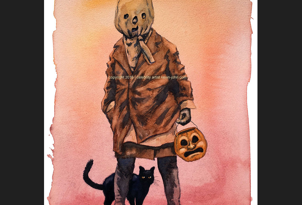 Vintage Tricks & Treater Matted Print