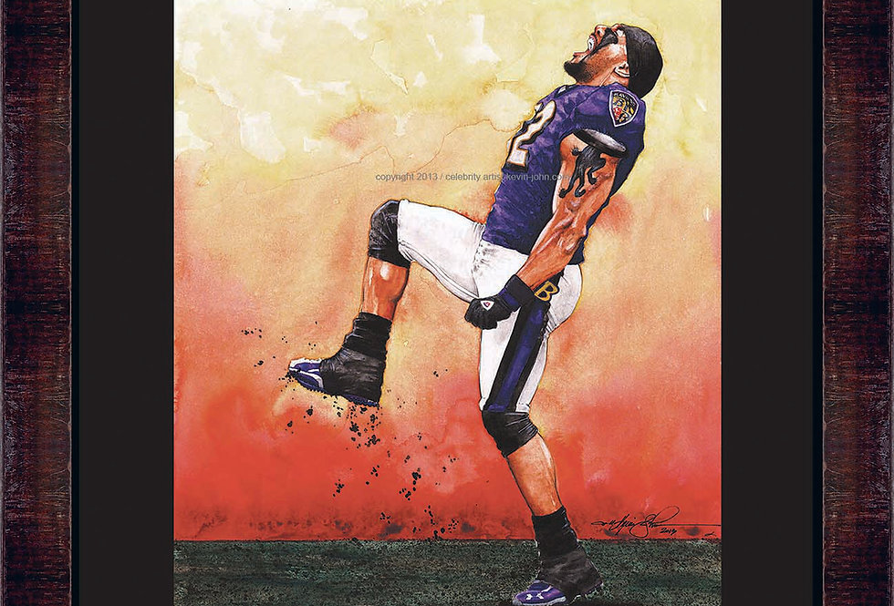 Ray Lewis Framed Giclee