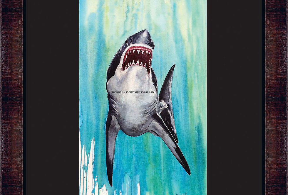 Great White Framed Giclee