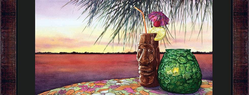 Mai Tai Sunset Framed Giclee