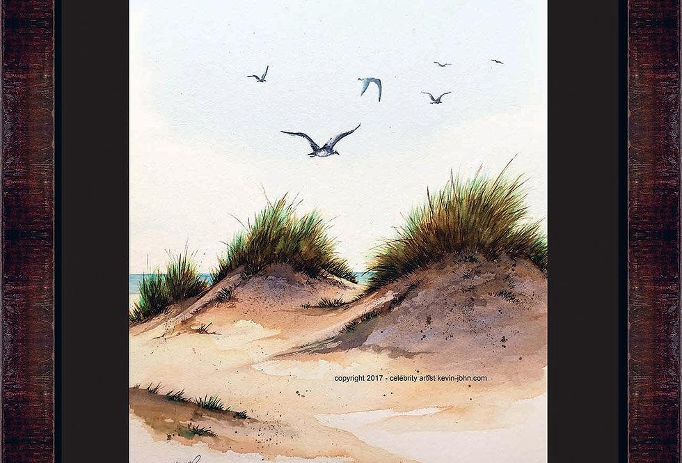 Beach Dunes Framed Giclee