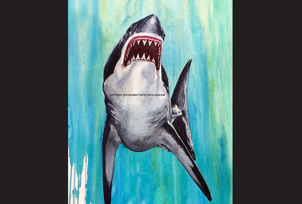 Great White Matted Print
