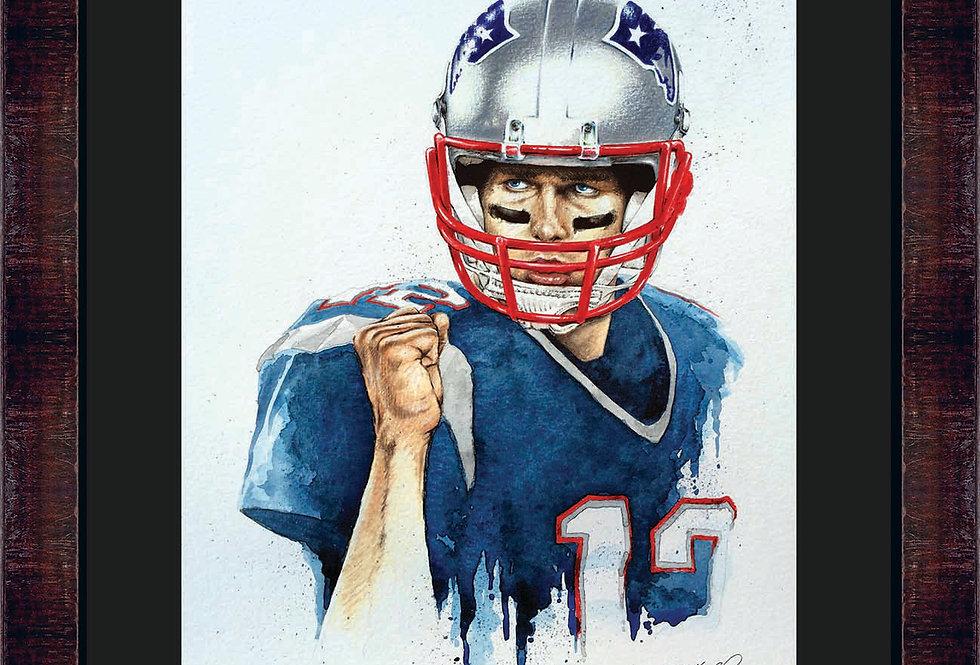 Tom Brady Framed Giclee