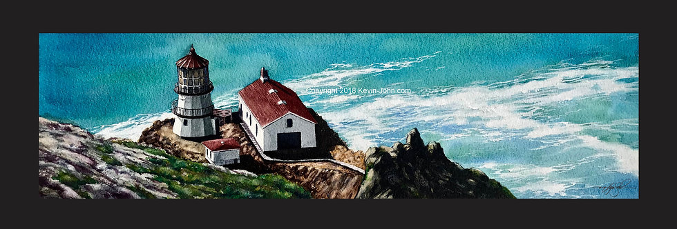 Point Reyes Lighthouse Matted Print