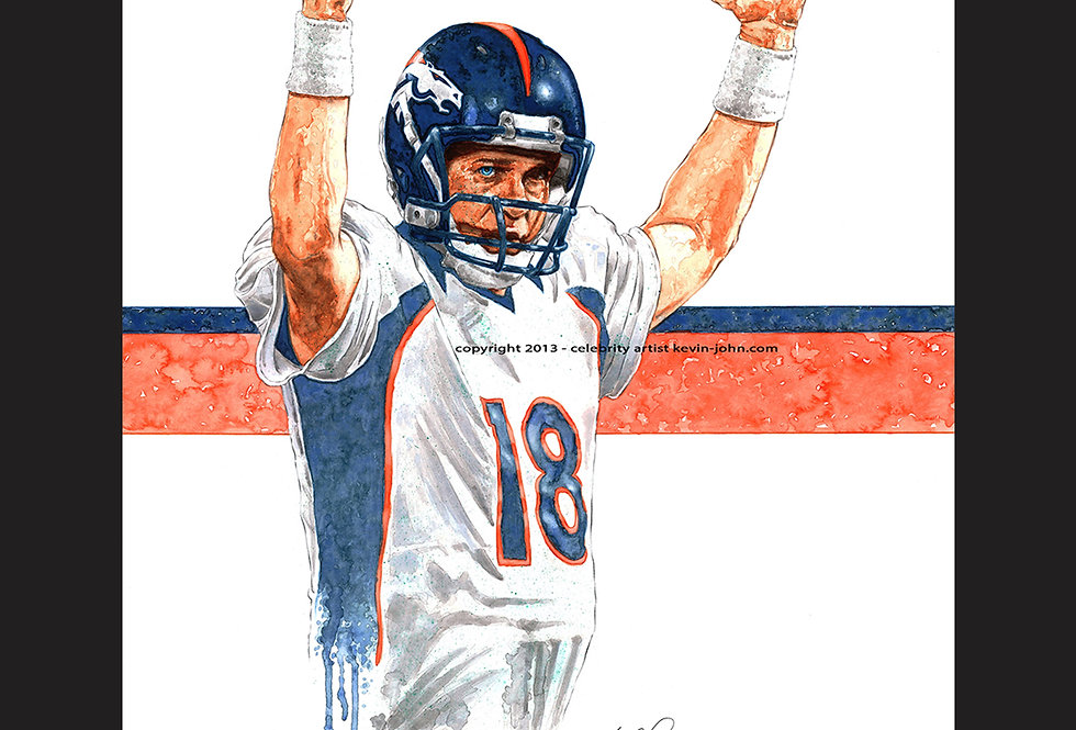 Peyton Manning Matted Print