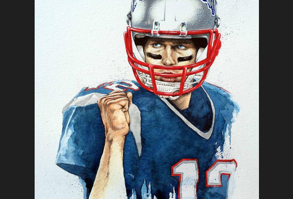 Tom Brady Matted Print