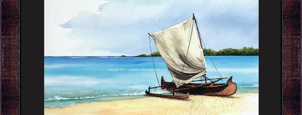 Beached In Paradise Framed Giclee