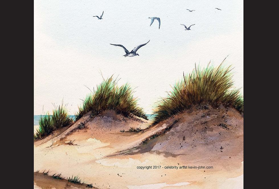 Beach Dunes Matted Print