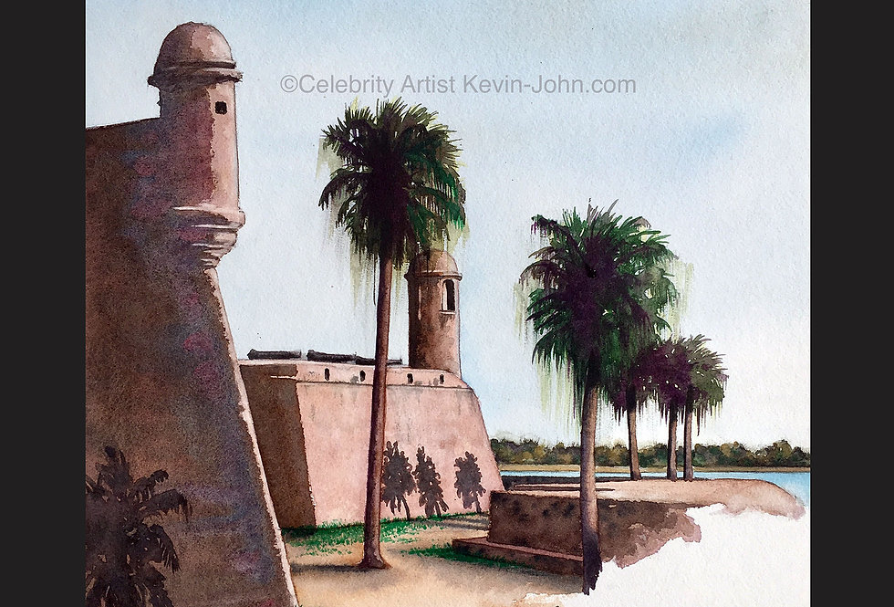 St. Augustine Matted Print