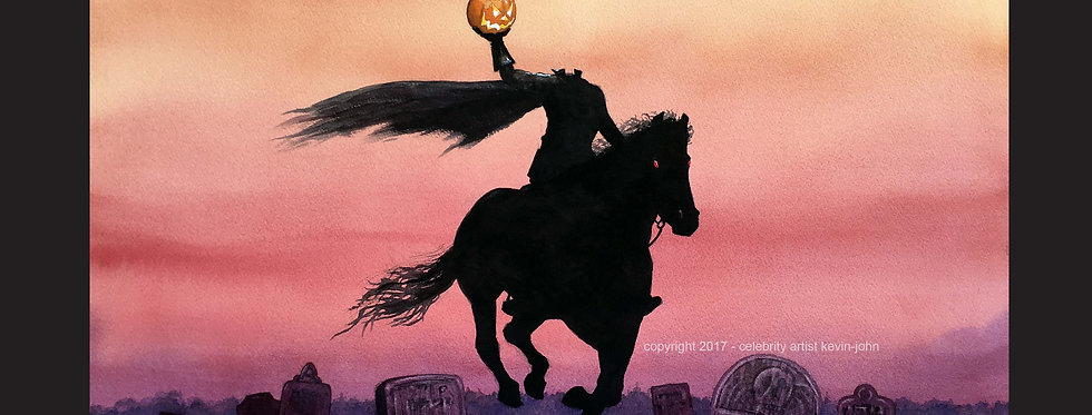Headless Horseman Matted Print