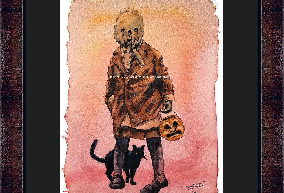 Vintage Tricks & Treater Framed Giclee