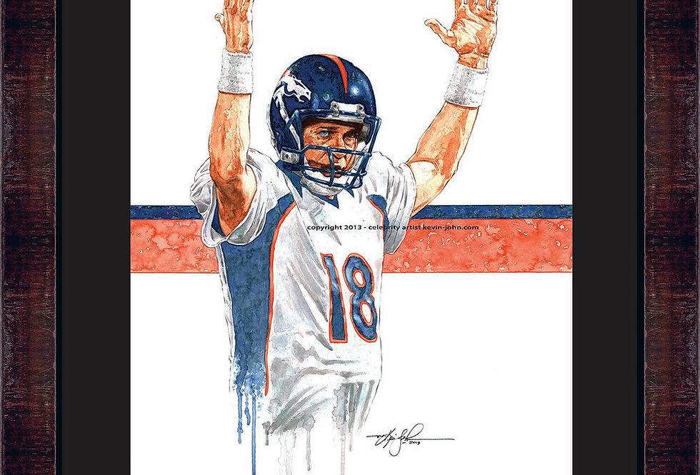 Peyton Manning Framed Giclee