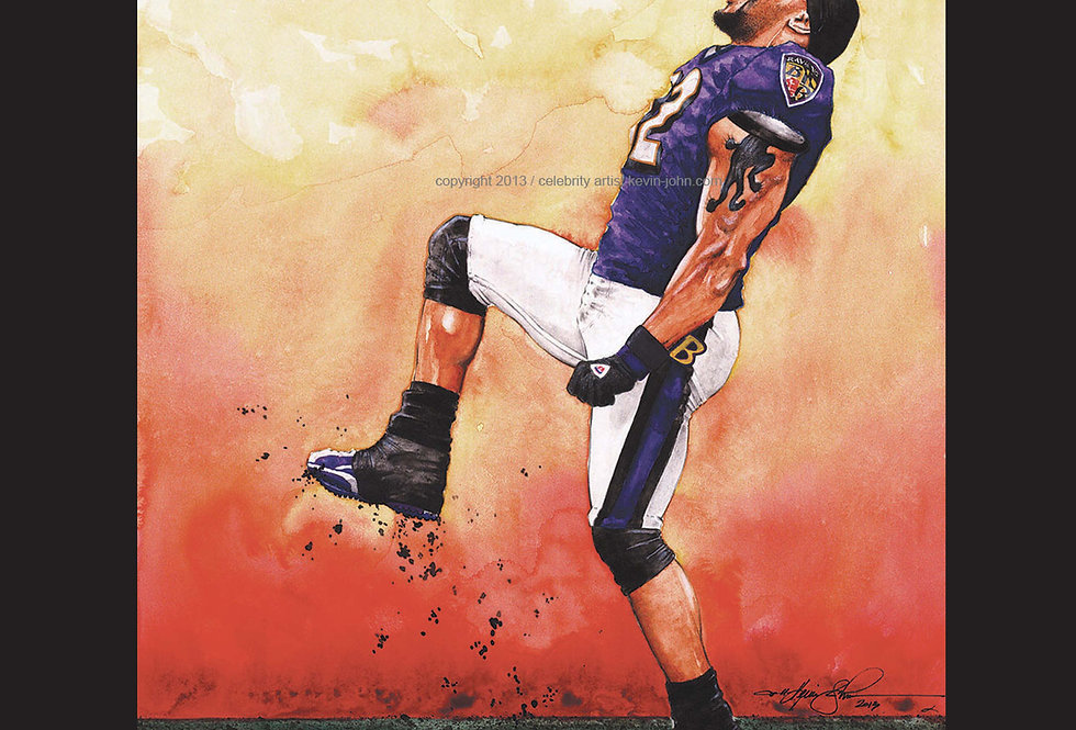 Ray Lewis Matted Print