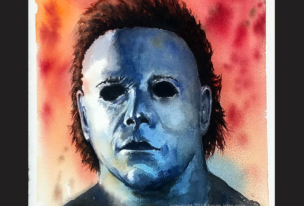 MICHAEL MYERS MASK LE 50 Matted Giclee