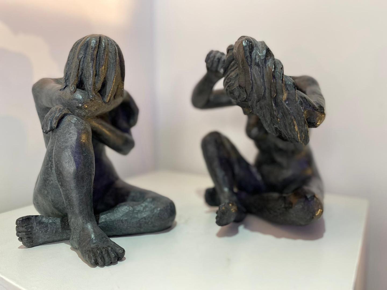 Inspiration Degas, La petite baigneuse et Femme se coiffant