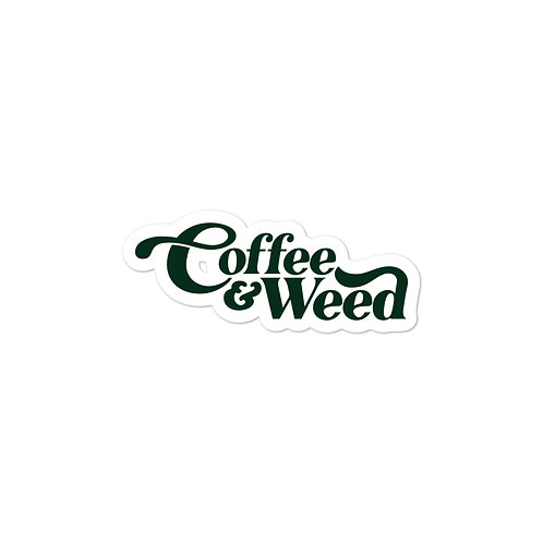Coffee & Weed Sticker