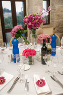 Beautiful flowers and table setting Mt. Zion Hotel