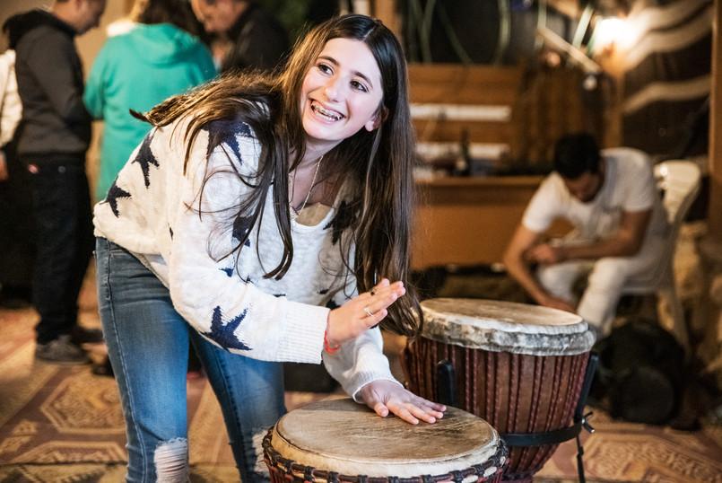 Bat Mitzvah Girl plays Jaman Productions' Drums