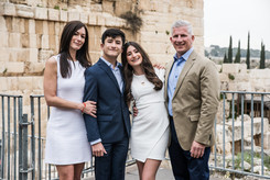 Family at the Western Wall celebrates daughter's Bat Mitzvah