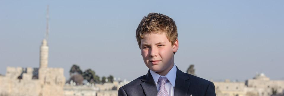 Bar Mitzvah boy on Beit Shmuel