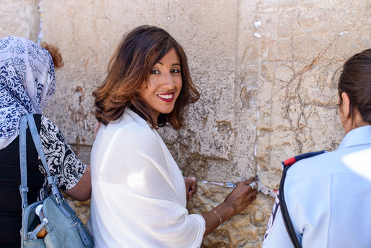 Bat Mitzvah girl mother visits the Western Wall